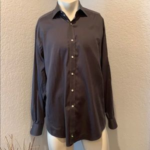 Tailorbyrd Long Sleeve Button Up Dress Shirt Large